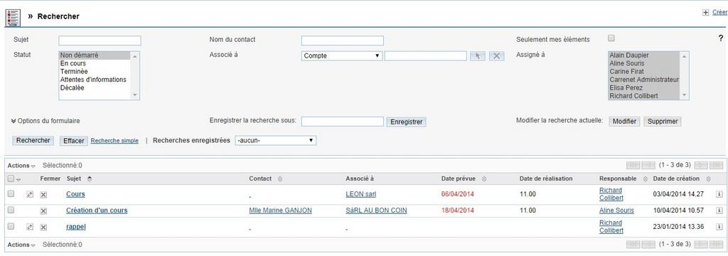 BasicCRM: Contrat de niveau de service (SLA), Gestion des opportunités, Utilisateurs maximum