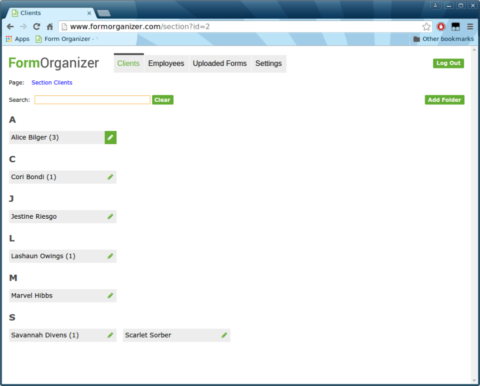 Form Organizer-screenshot-0