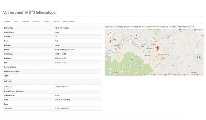FactureNet: Site Web (plugin, formulaire), Suivi de la trésorerie, Fiche produit
