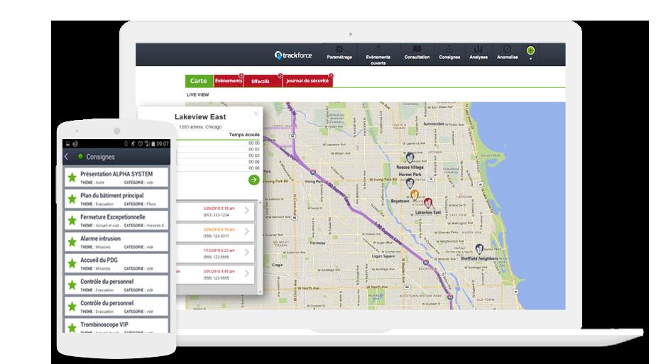 Post : Poste de commandement en ligne pour suivre les opérations et les effectifs en temps réels.