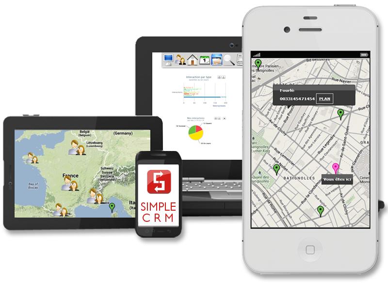 Simple CRM: Gestion de campagnes, Webmail (gestion des emails), Standard d'encodage avancé (AES)