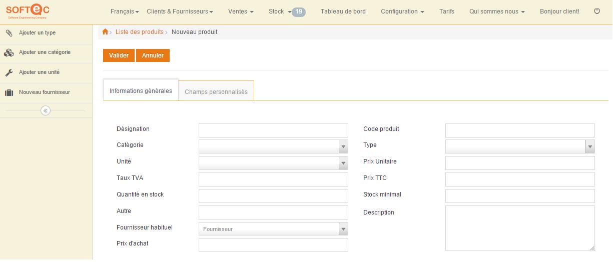 SoftecPro: Rapports, Webmail (gestion des emails), Suivi des paiements / règlements
