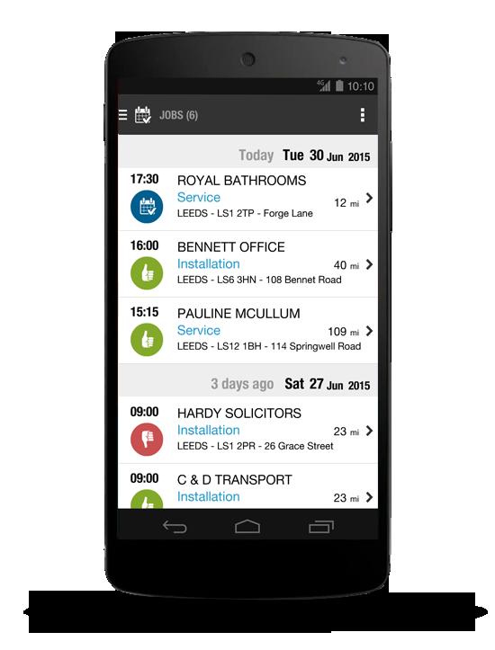 Application mobile Feuilles de travail Formulaires de travail Comptes rendus d'intervention Prochaines missions