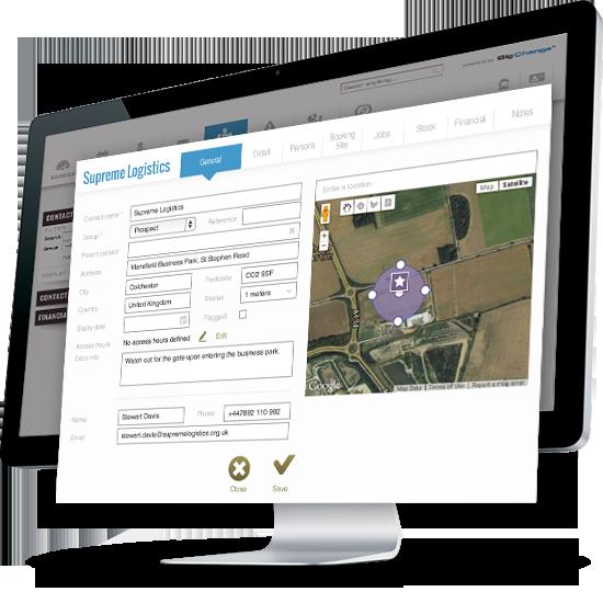 Base de données clients Base de contacts clients Historique des interventions Stocks et Equipements Devis et Factures