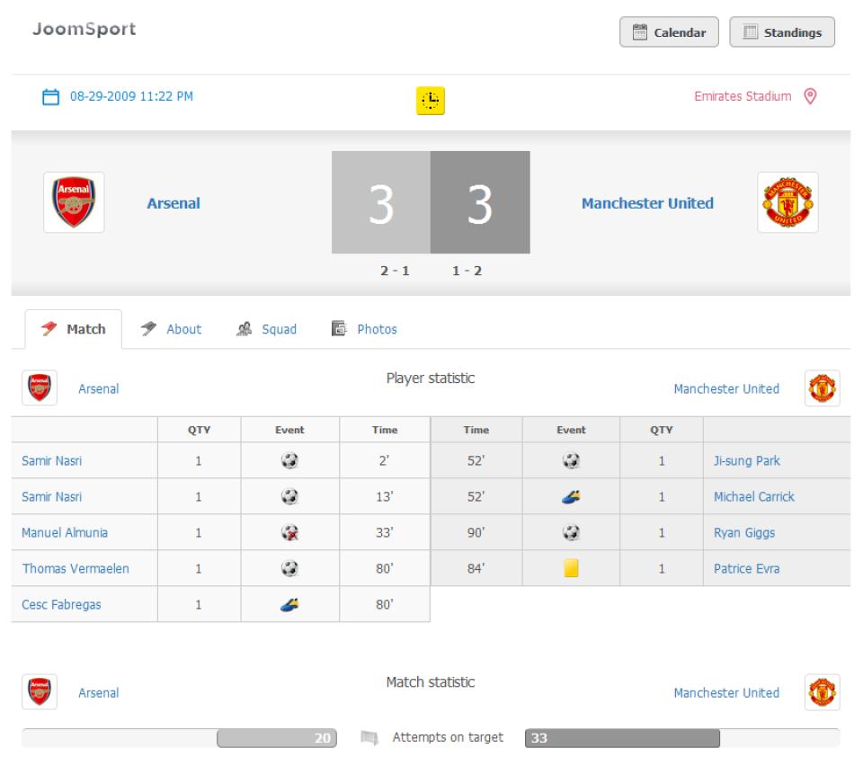 JoomSport-screenshot-1