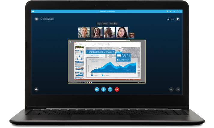 Réunions en ligne avec Skype