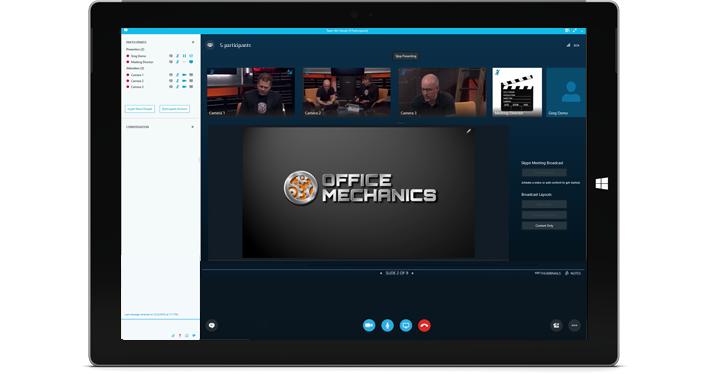 Diffusion de réunions avec Skype