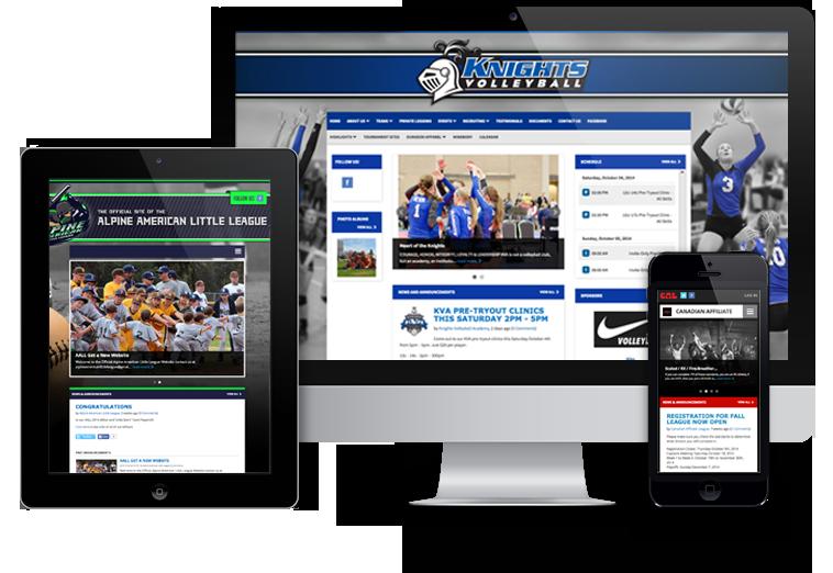 League Website Software-screenshot-0