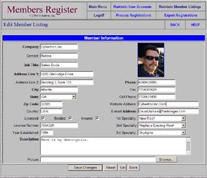 Membership Register-screenshot-0