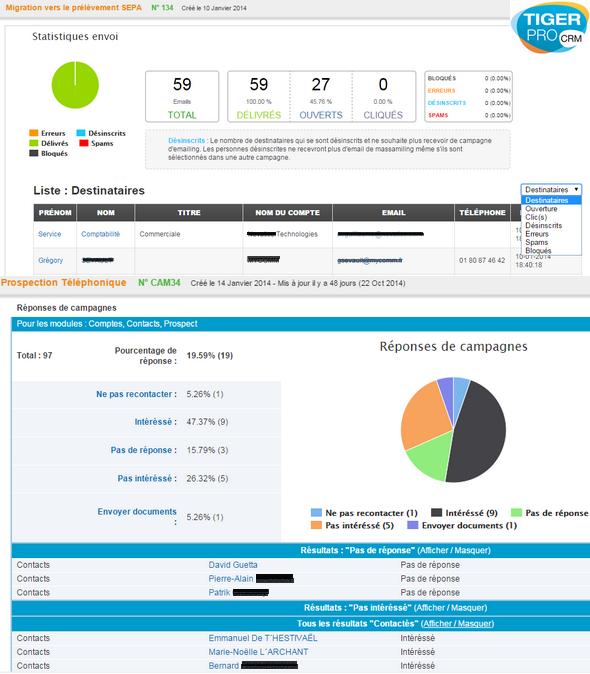 TigerPro CRM: Prospection, Tâches et notes, Mode déconnecté