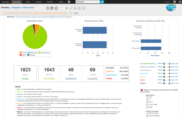 TigerPro CRM: Catalogue tarifaire, Tâches et notes, Gestion des fournisseurs