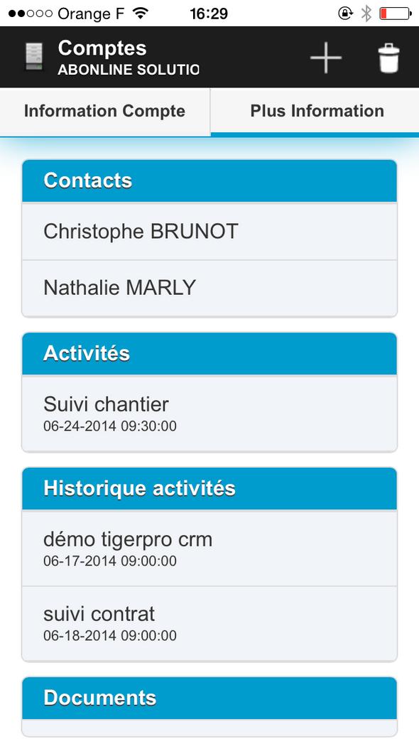 TigerPro CRM: Gestion de campagnes, Application mobile, Tâches et notes
