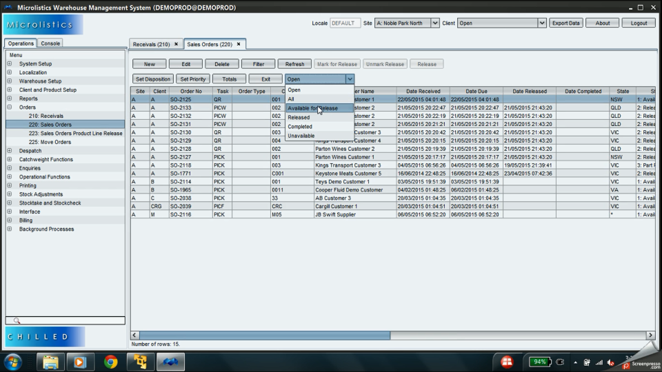 Microlistics WMS-screenshot-1