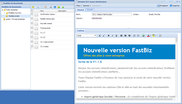 FastBiz: API, Web service, Help Desk, Tableaux de bord