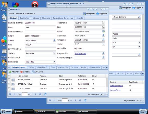 FastBiz: API, Web service, Interfaces par groupes d'utilisateurs, Gestion des entrées / sorties