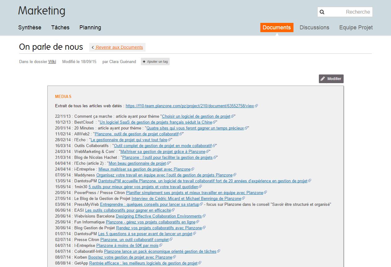 Planzone: Rapports, Formation en ligne (webinaire), API, Web service