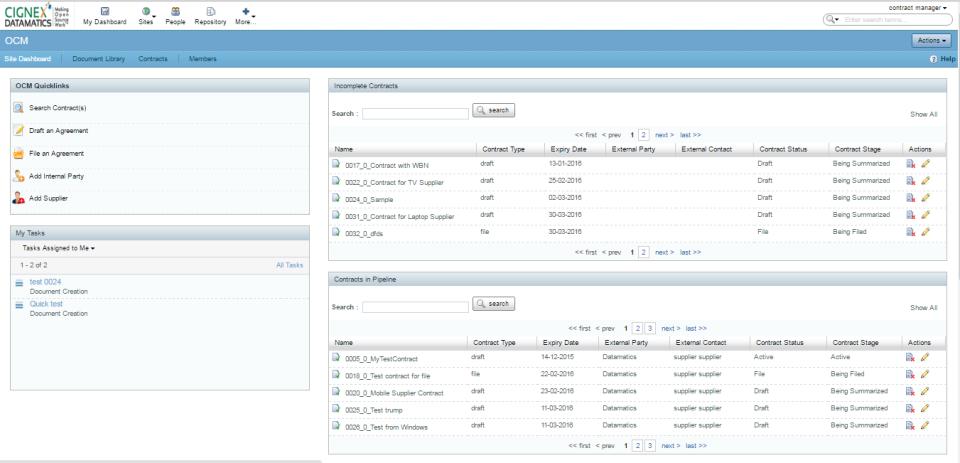 OCM - Contract Management-screenshot-0