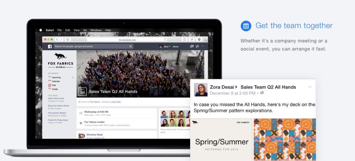 Facebook at Work : Créer des groupes