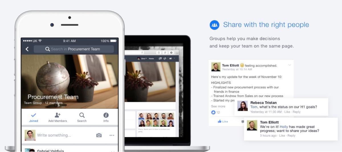 Facebook at Work : créer des événements