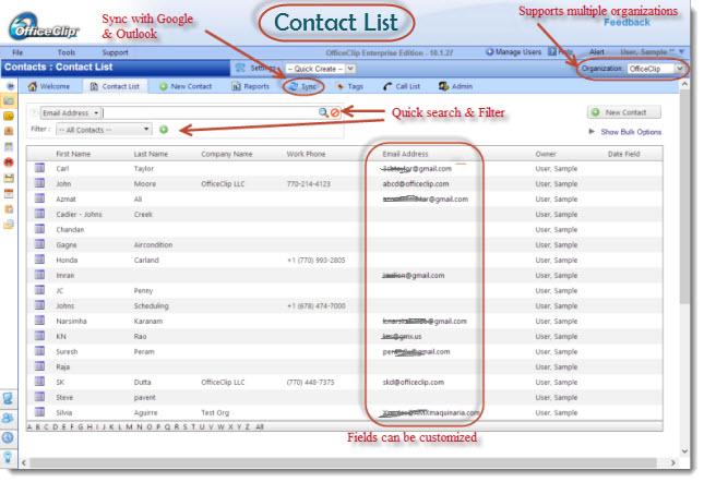 OfficeClip Contact Management-screenshot-0