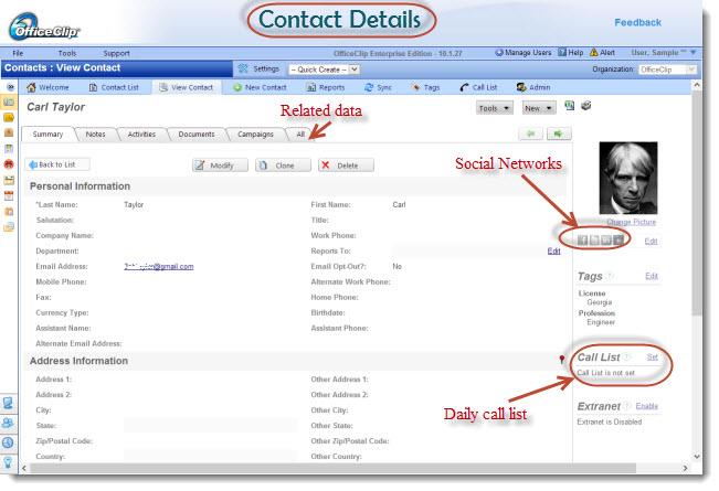 OfficeClip Contact Management-screenshot-1