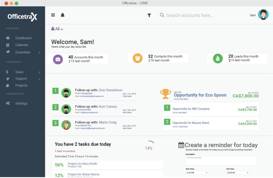 Officetrax CRM-screenshot-0