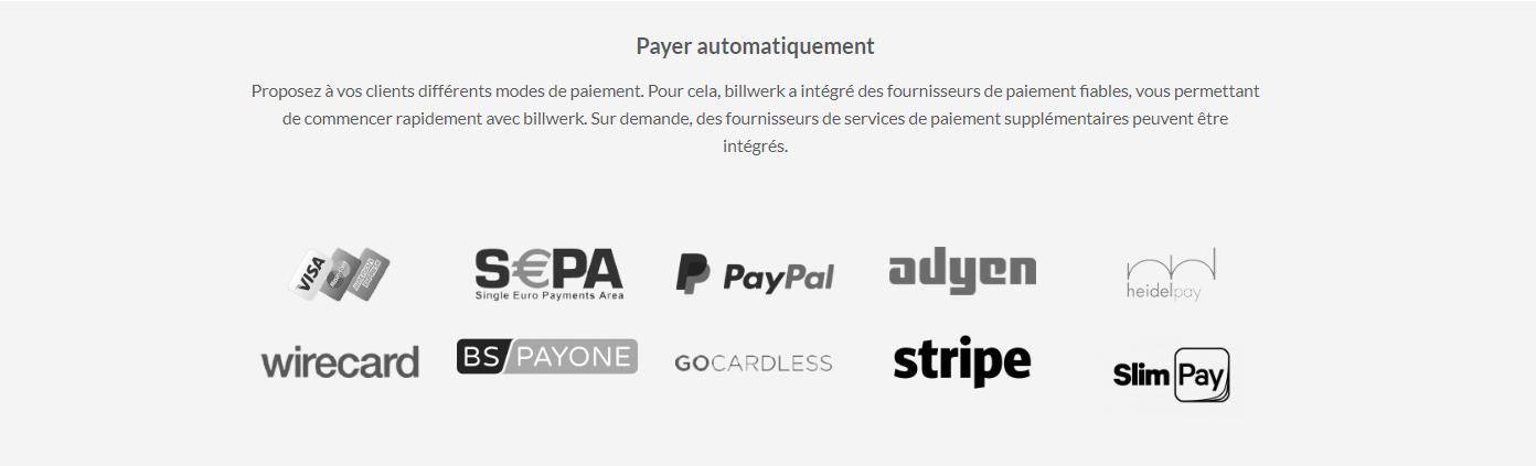 billwerk | Payer automatiquement