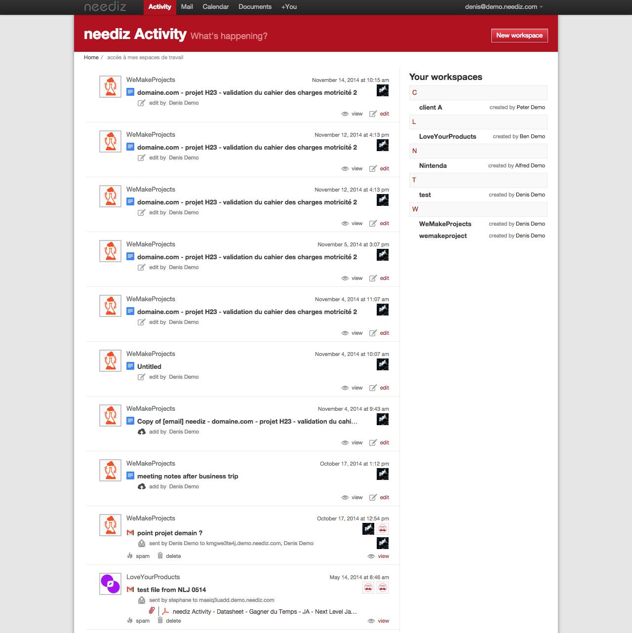 Neediz Activity: Base de savoir, wiki, Conversations et posts, Gestion de comptes