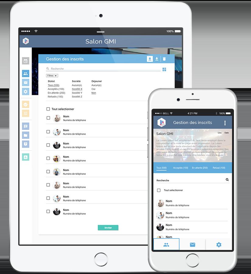 Prezevent est disponible sur téléphone et tablette avec son application mobile mais aussi en ligne avec le logiciel.