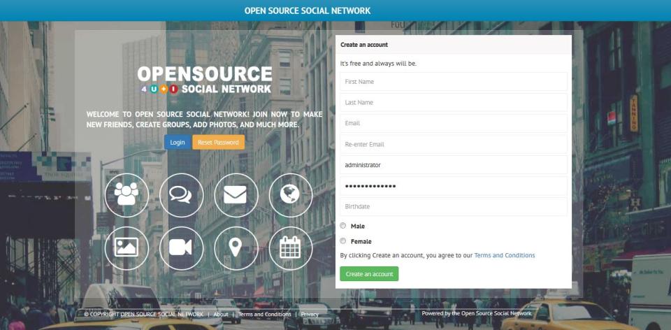 Open Source Social Network-screenshot-0