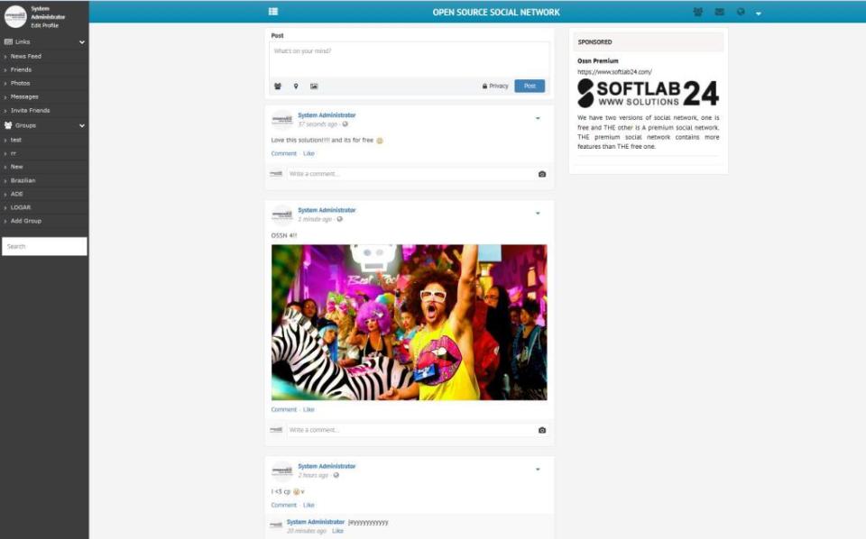 Open Source Social Network-screenshot-1