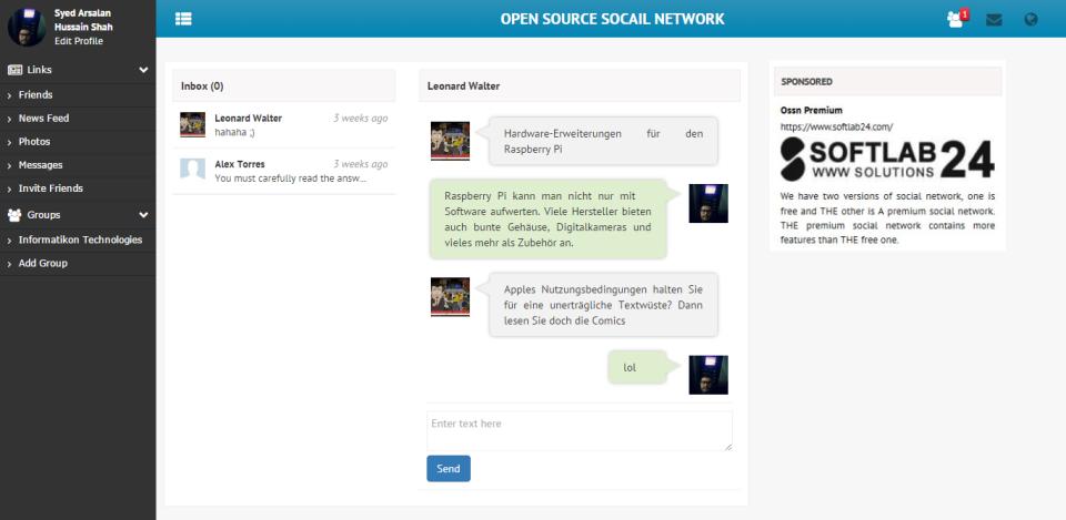Open Source Social Network-screenshot-3
