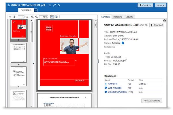 Oracle WebCenter Content-screenshot-0