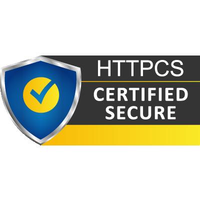 Sceau de certification en sécurité informatique, cliquable sur votre site internet.