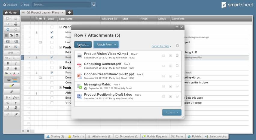 Smartsheet: Planification, Suivi de l'avancement, Gestion des utilisateurs
