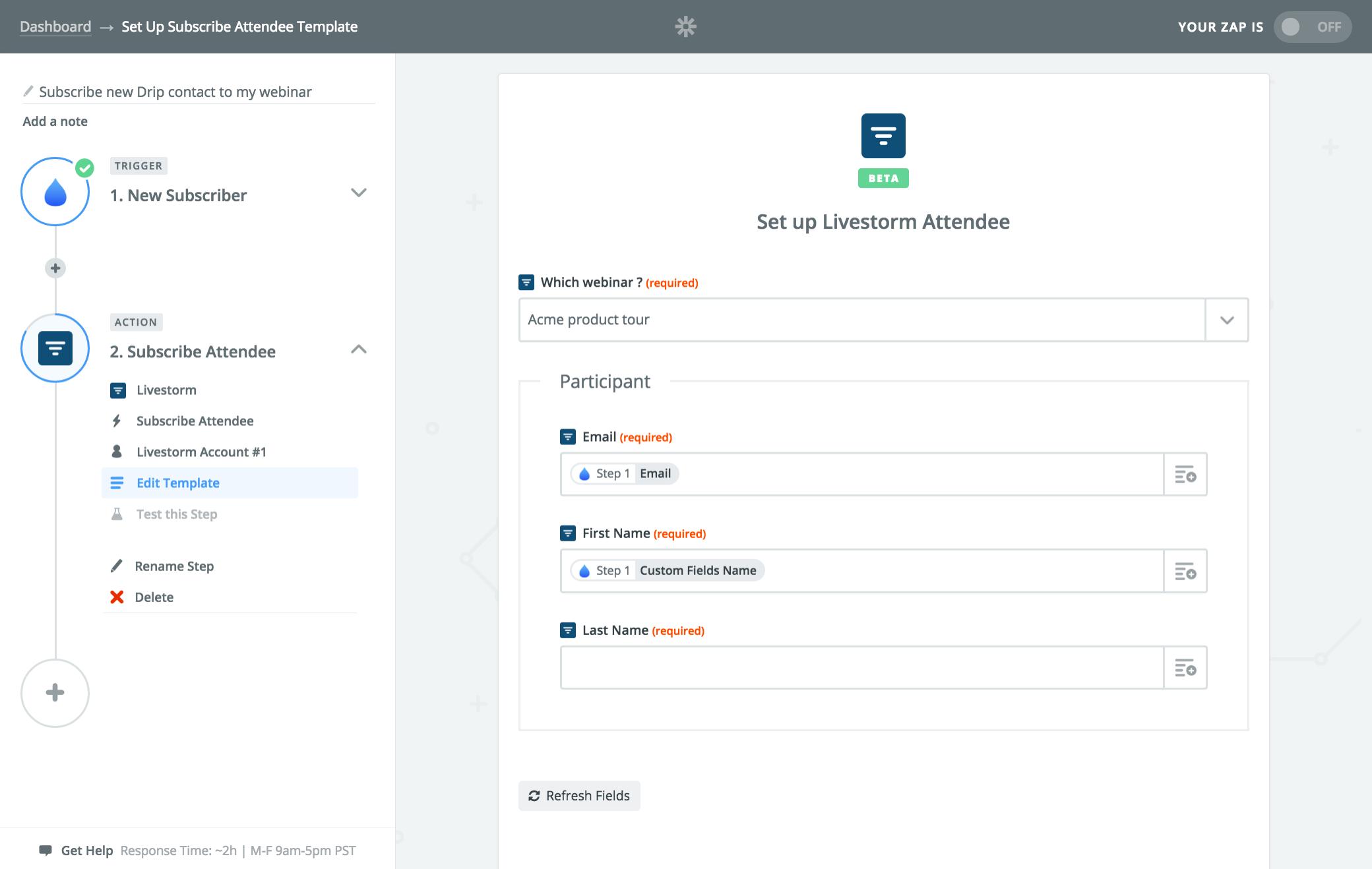 webinar room - intégrations