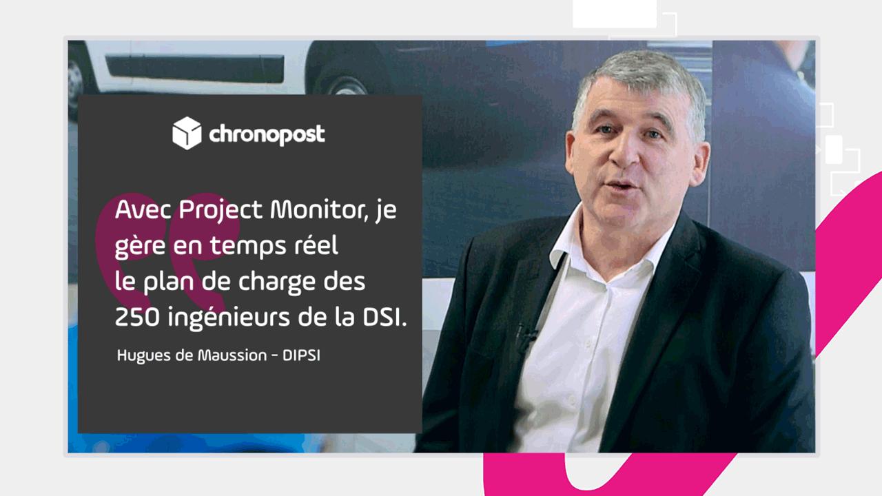 Project Monitor accompagne la DSI de Chronopost pour ses plans de charge.