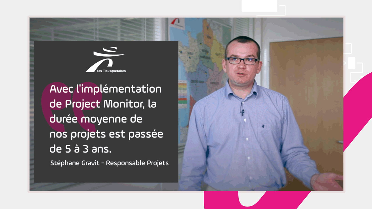 Avec la mise en place de Project Monitor, la durée des projets s'est réduite de 33%.