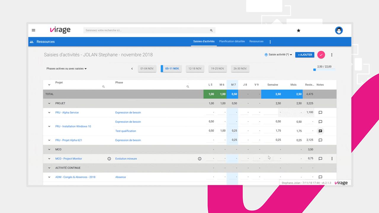 Vos équipes projet peuvent facilement saisir leur temps dans Project Monitor