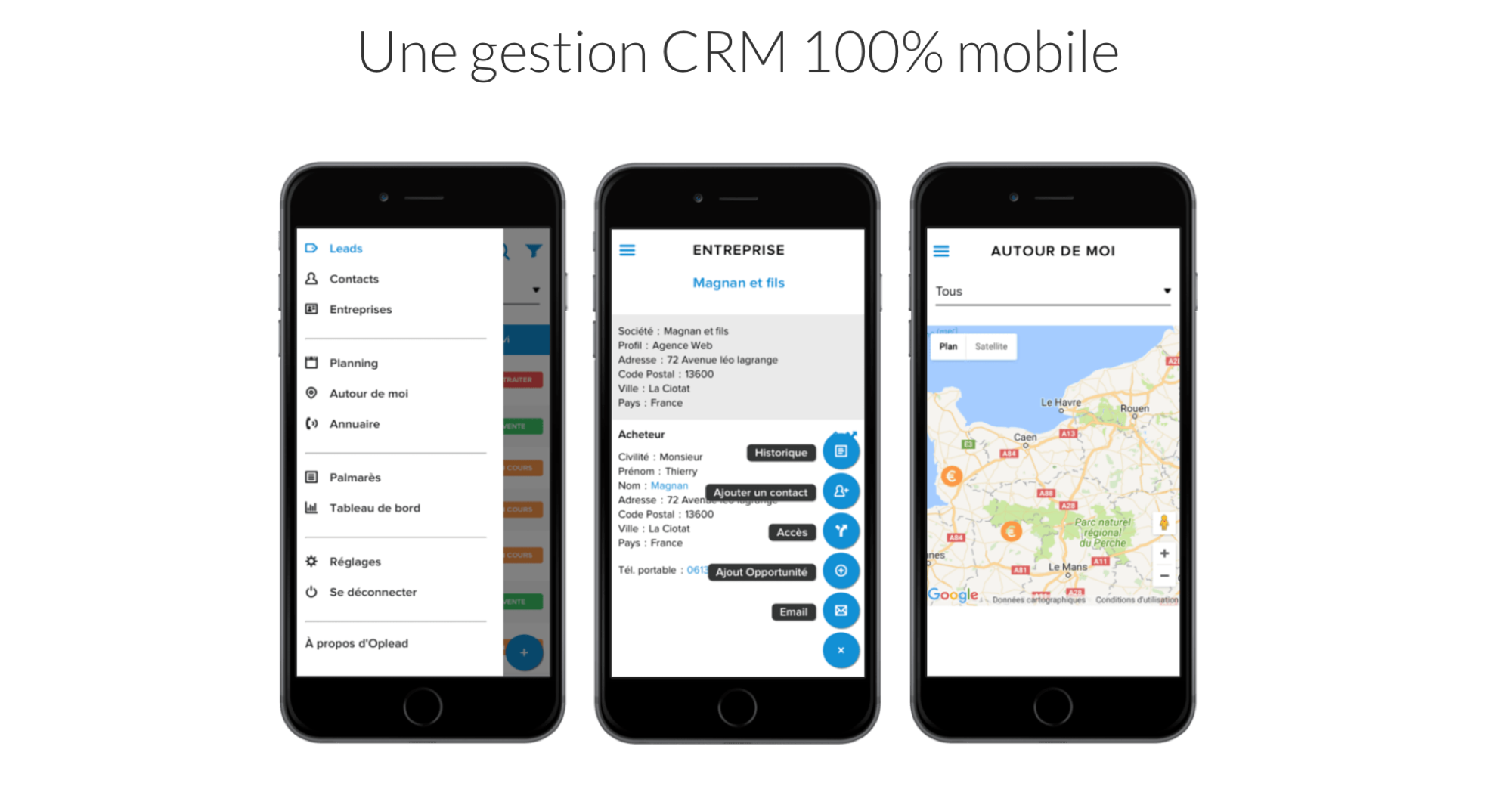 Oplead CRM Mobile