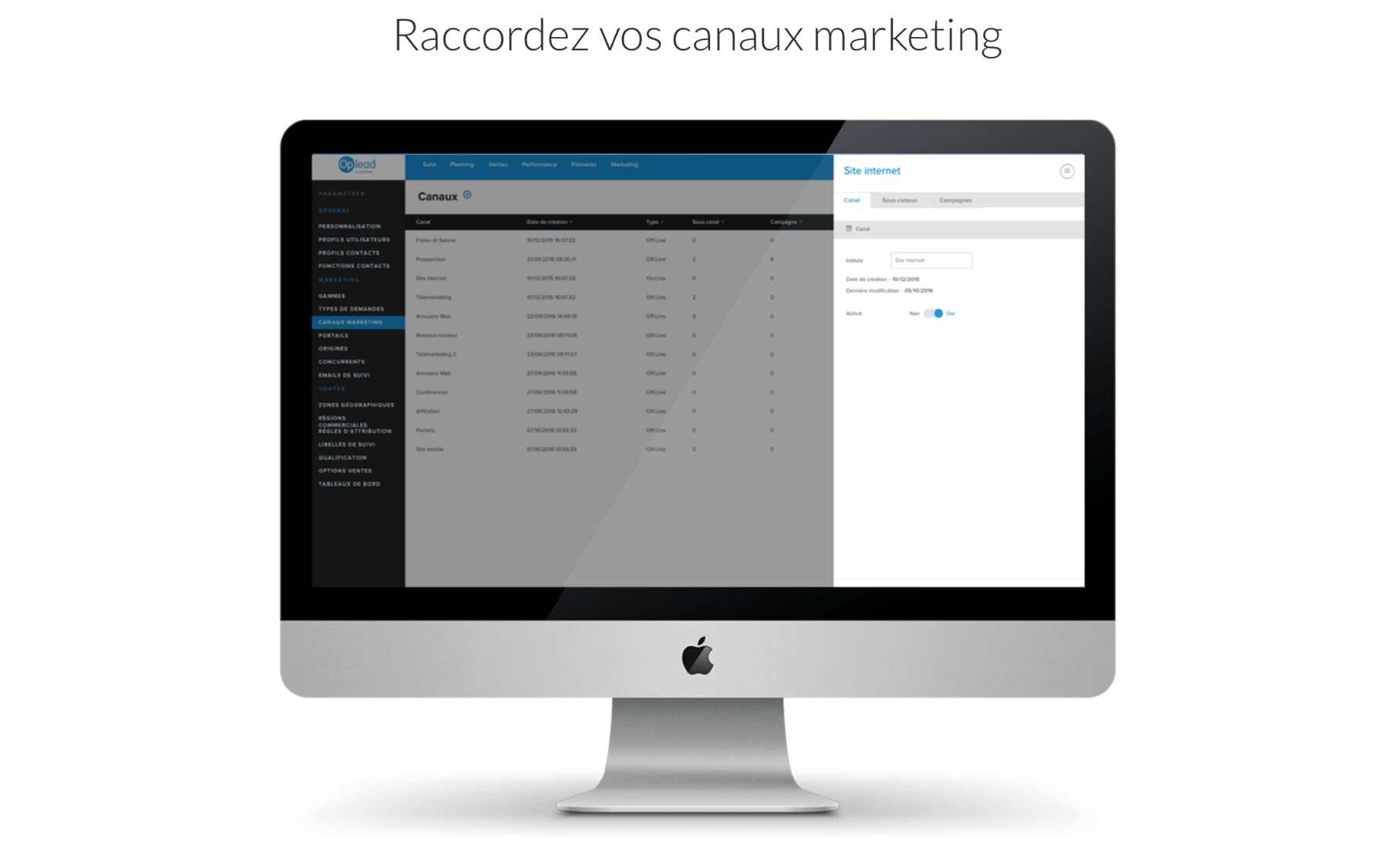 Gestion de canaux marketing
