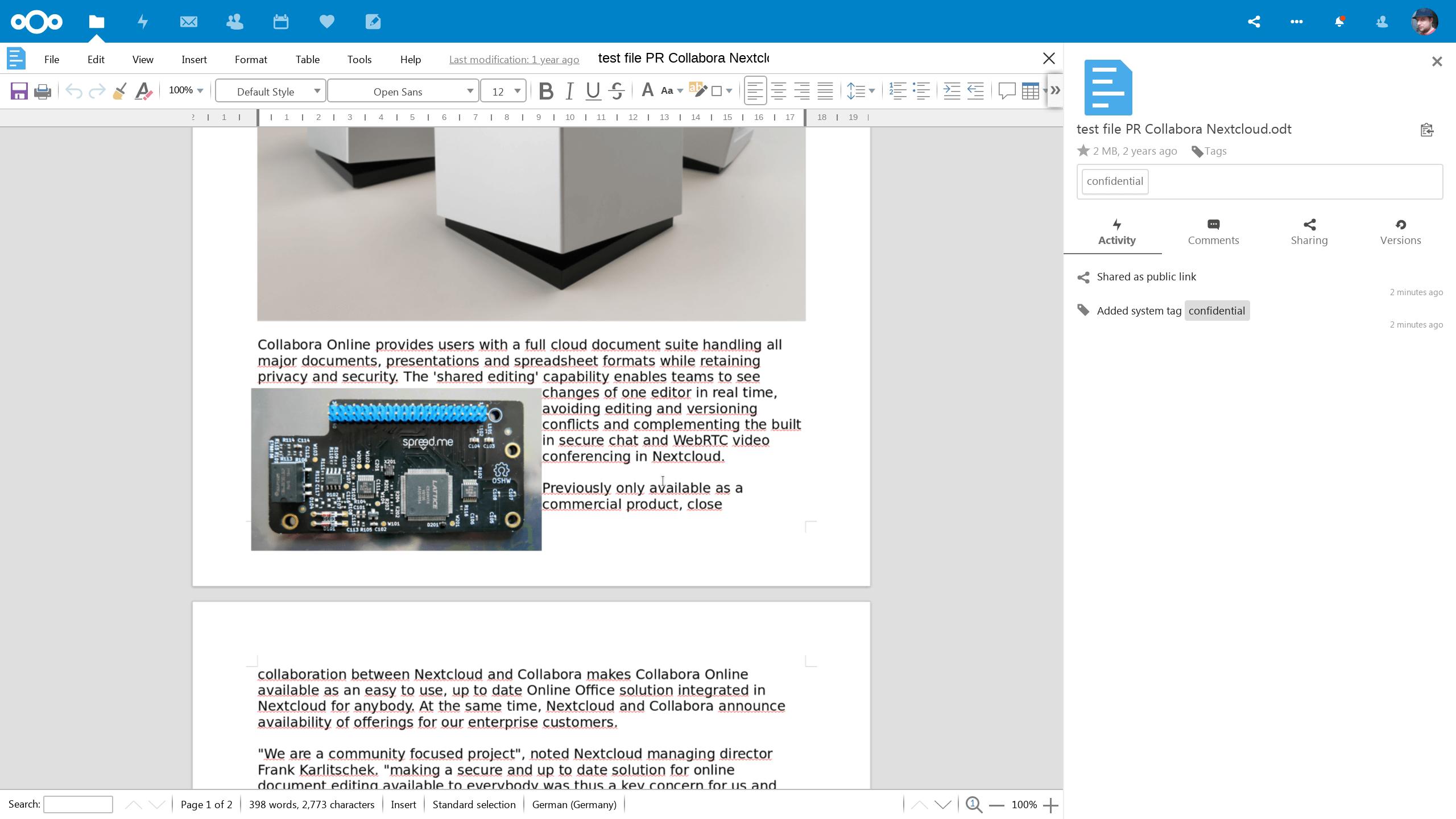Tags, watermarks, etc. Tout est présent pour créer ses Virtual Data Rooms