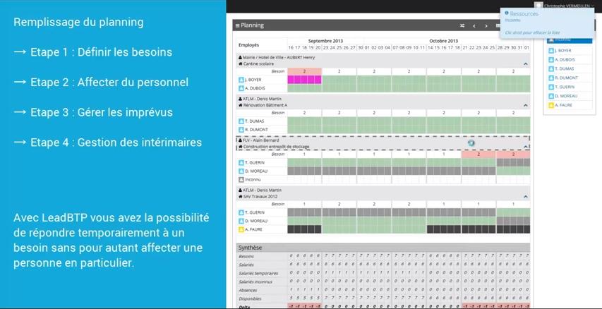 LeadBTP: Rapport de projet, Planification, Visualisation et suivi des projets