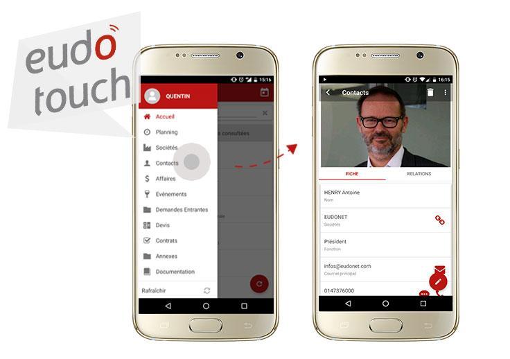 Embarquez toutes vos données dans votre poche et gardez un œil sur votre activité même en situation de mobilité grâce à EudoTouch, notre application mobile pour iOS et Android.
