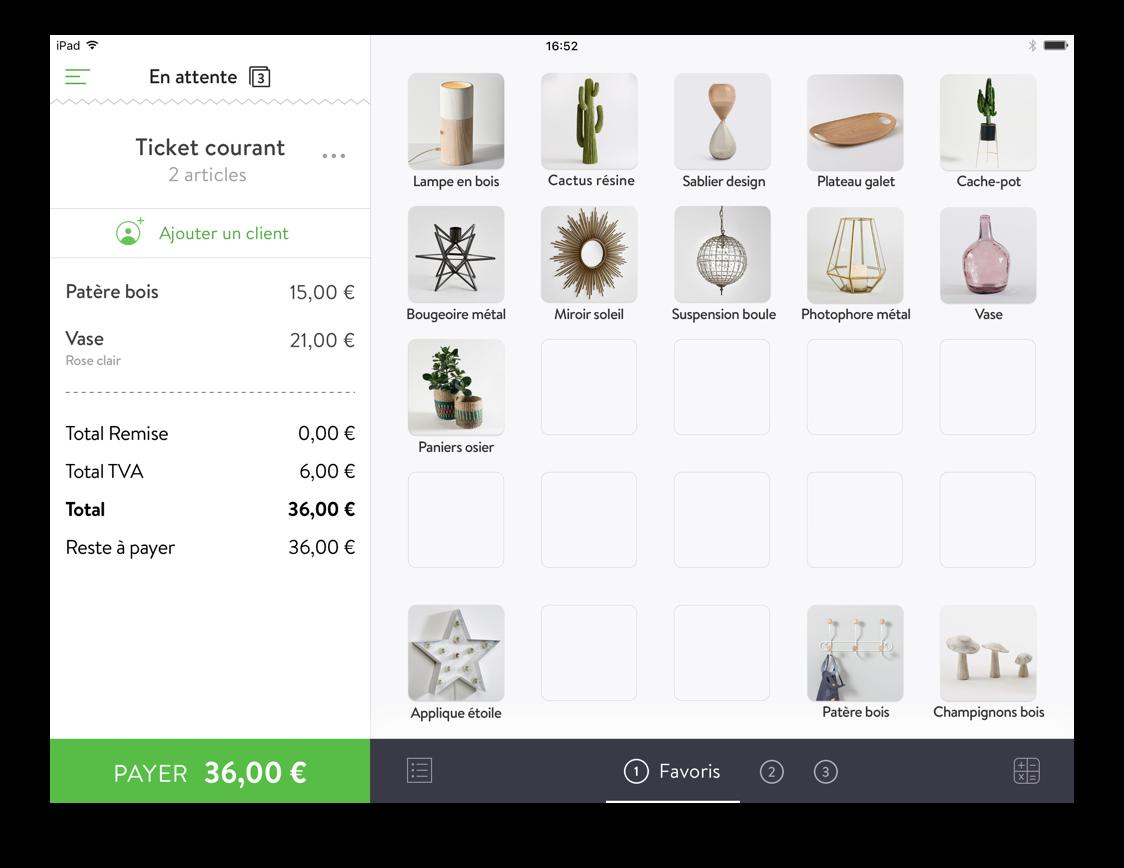 Application iPad de caisse enregistreuse