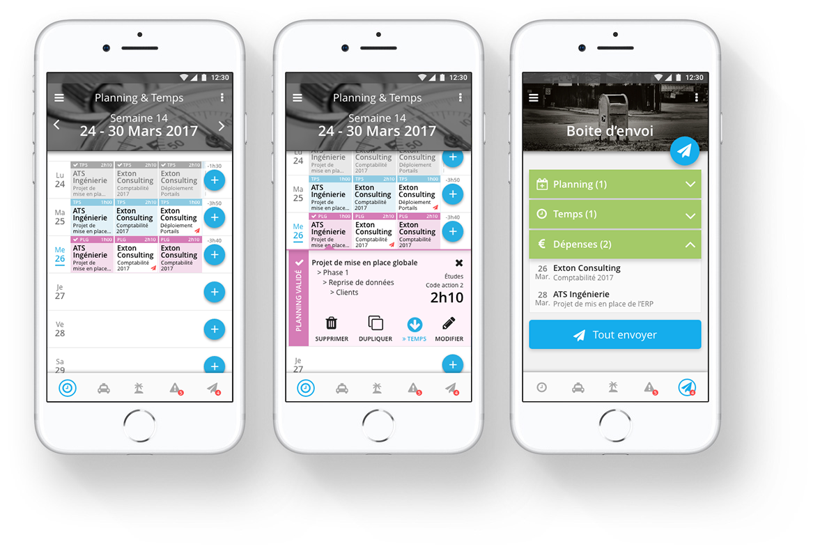 Temps/planning - Application mobile