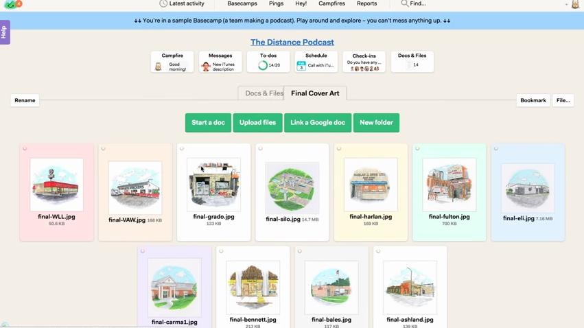 Basecamp: Visualisation et suivi des projets, Base de savoir, wiki, Planification de projets