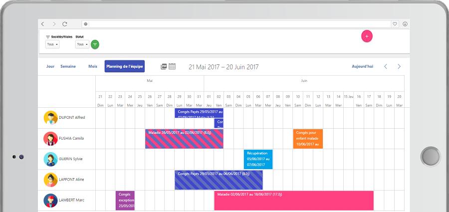 logiciel planning congés