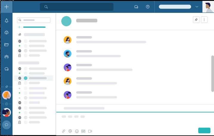 Les chats de projet et discussions privées de Taskworld vous permettent de rester facilement en contact avec votre équipe, même si vous travaillez à l'autre bout du monde.