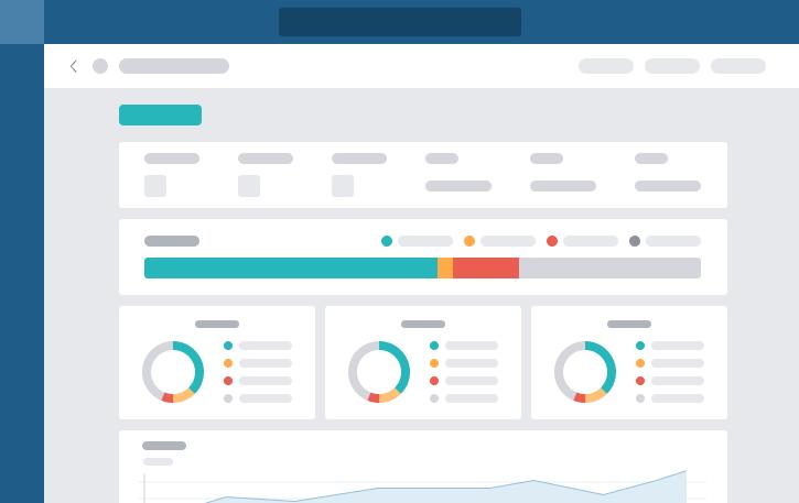 Avec les Statistiques du Projet, il est facile d'analyser les progrès de votre équipe grâce aux graphiques et barres de progression et d'identifier les goulots d'étranglement avant qu'ils ne surviennent.